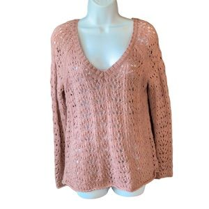 American Eagle Outfitters Pink Knit Sweater Size S
